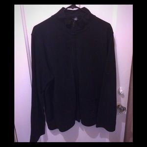 Eileen Fisher Black Sweatshirt Cardigan - Sz L